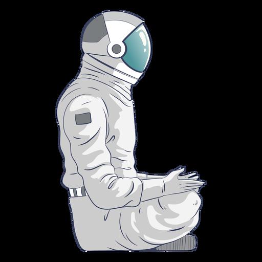 Carácter de astronauta sentado