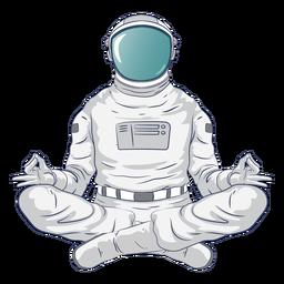 Astronauta personagem de ioga