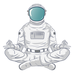 Personaje de yoga astronauta