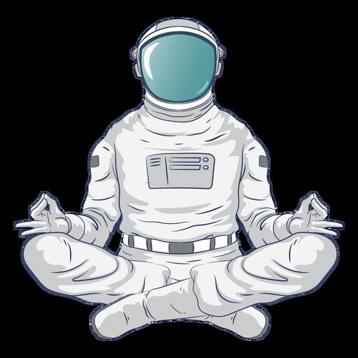 Astronaut yoga character Transparent PNG