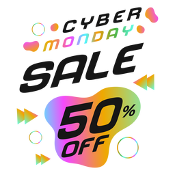 Cyber monday retro badge