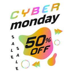 Cyber monday discount retro badge