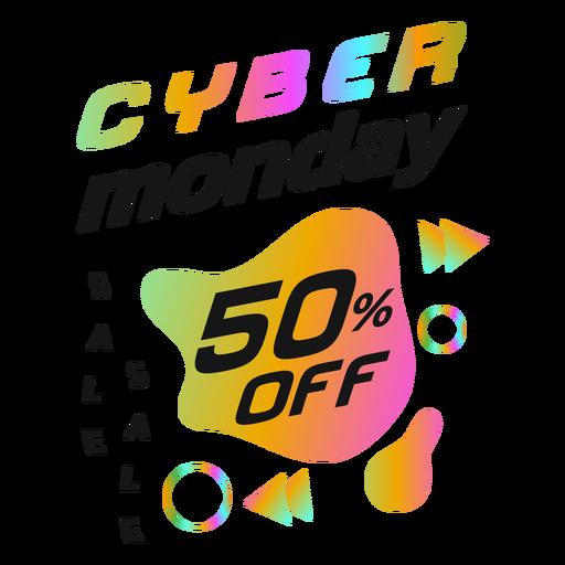 Cyber monday discount retro badge
