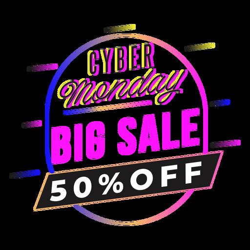 Cyber monday sale gradient badge