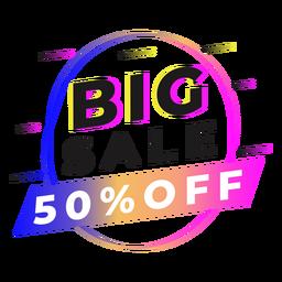 Big sale gradient badge