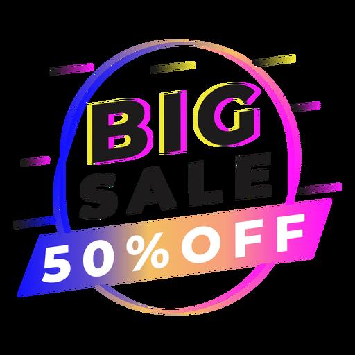 Big sale gradient badge Transparent PNG