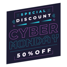 Cyber monday discount pixel badge