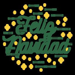 Merry christmas spanish lettering