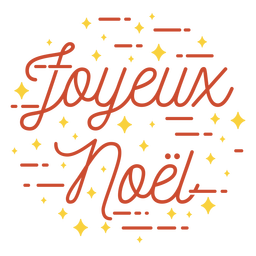 Merry christmas french lettering
