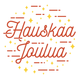 Merry christmas finnish lettering