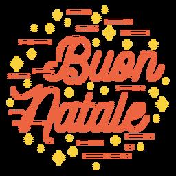 Merry christmas italian lettering