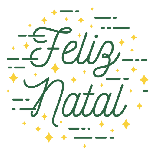 Merry christmas portuguese lettering