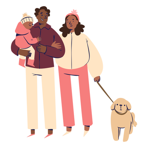Happy family characters Transparent PNG