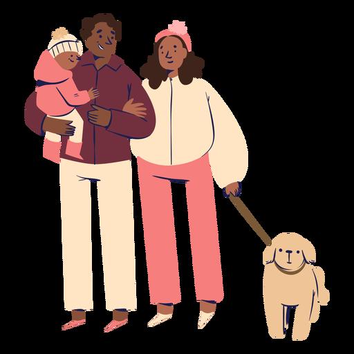 Personagens de família feliz