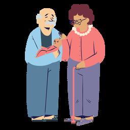 Personajes de la familia de los abuelos