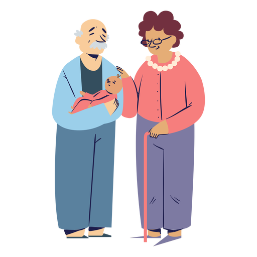 Grandparents family characters Transparent PNG