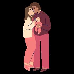 Padres besando personajes