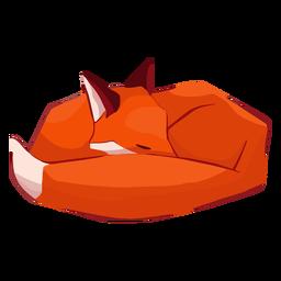 Animal fofo raposa dormindo