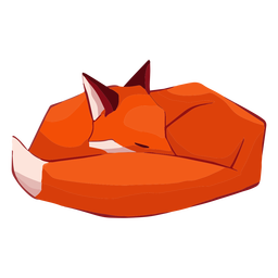 Fox lindo animal durmiendo