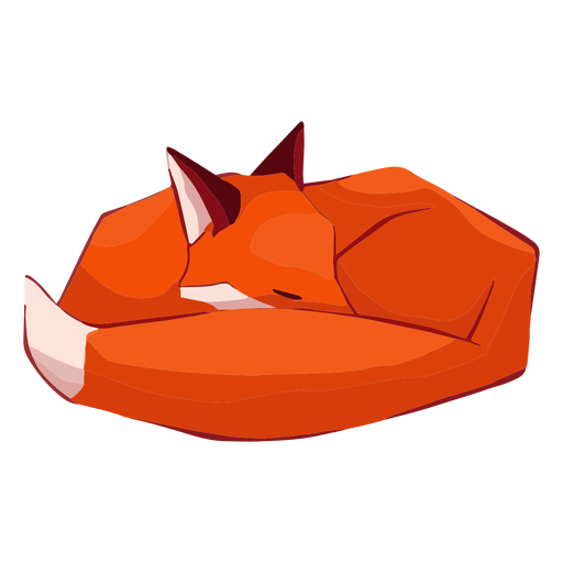 Fox cute animal sleeping