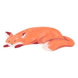 Sleeping fox watercolor