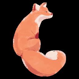 Cute fox wild animal watercolor