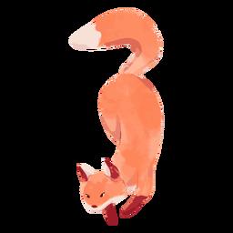 Fox running watercolor
