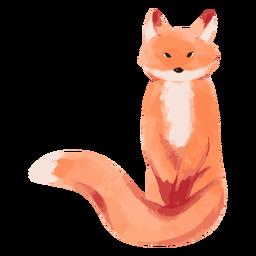 Fox animal sitting watercolor