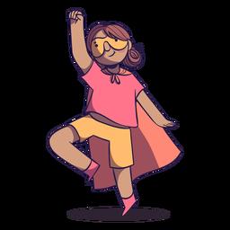 Chica superhéroe con carácter de capa.