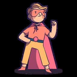 Superhero kid with mask character