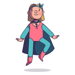 Superhero girl flying character