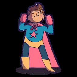 Superheld Pose Boy Charakter