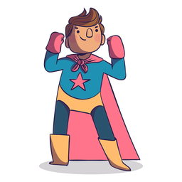 Superhero pose boy character