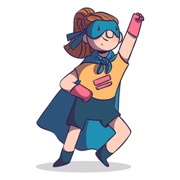 Superhero pose girl character