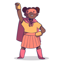 Superheroine pose girl character