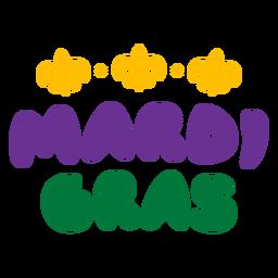 Mardi gras bubbly lettering