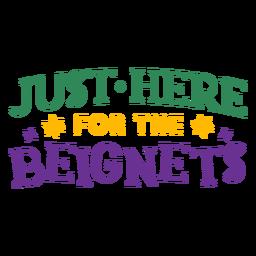 Mardi gras beignets lettering