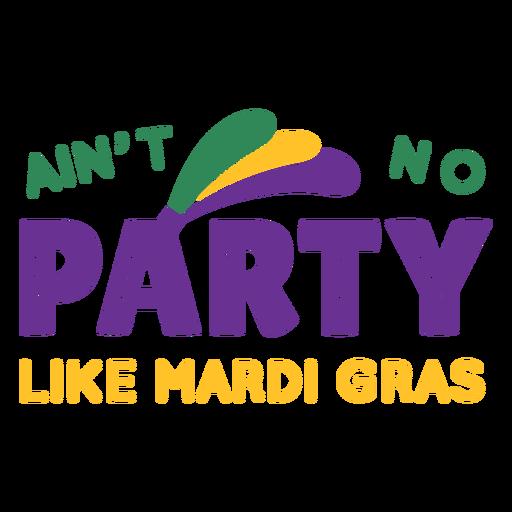 Mardi gras party lettering