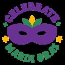 Celebrate mardi gras lettering