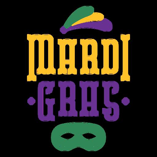 Mardi gras holiday lettering