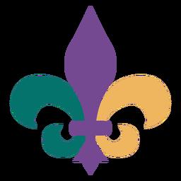 Fleur de lis carnival symbol