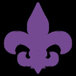 Fleur de lis purple silhouette