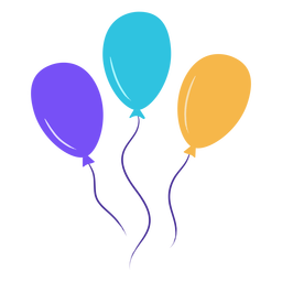 Party balloons floating