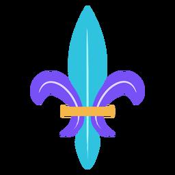Fleur de lis flat