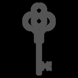 Simple vintage key element