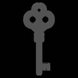 Vintage simple key silhouette