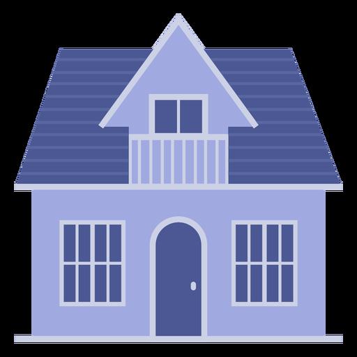 Casa azul de estilo americano