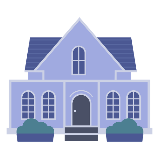Classic blue house icon