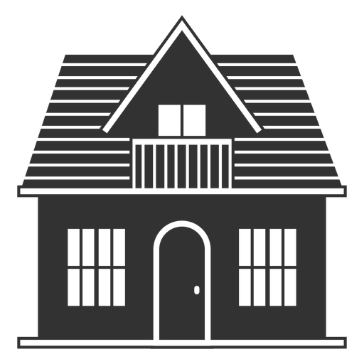 Small traditional house icon