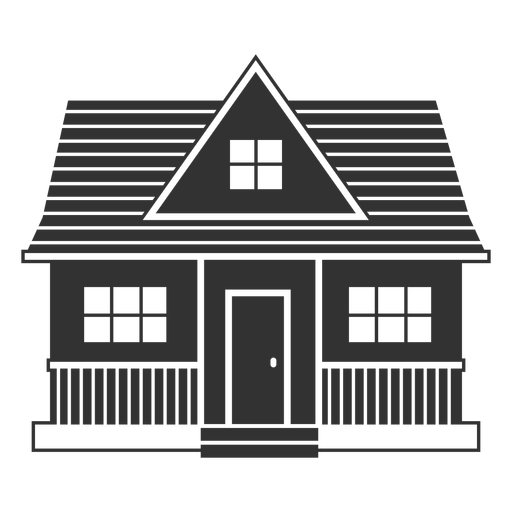 Simple house with porch icon
